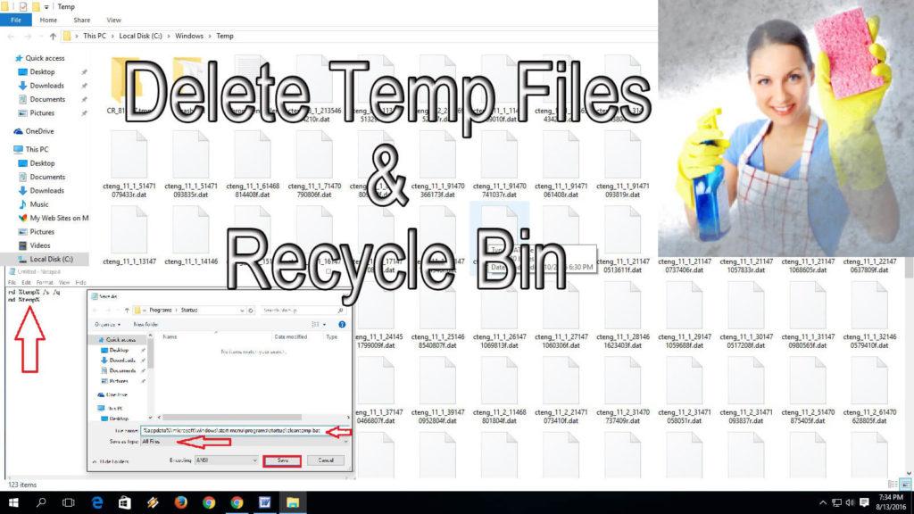 Delete Temporary Files Automatically