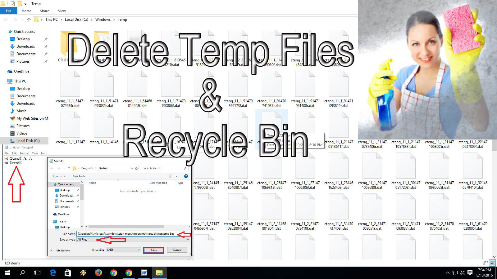Delete Temporary Files Automatically