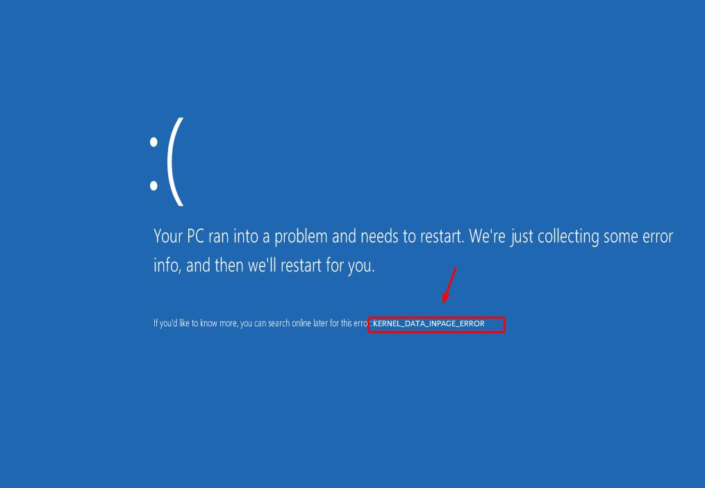 kernel data inpage error windows 7