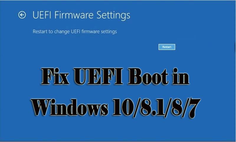 Complete Guide] Fix UEFI Boot in Windows 10/8 1/8/7
