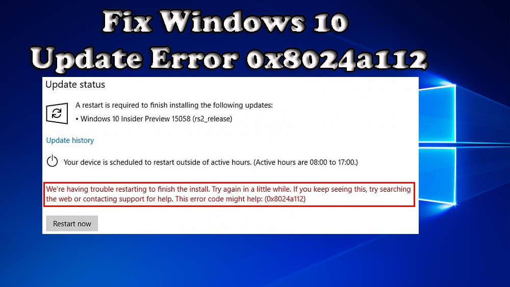 Fix Windows Update Error 0x8024a112
