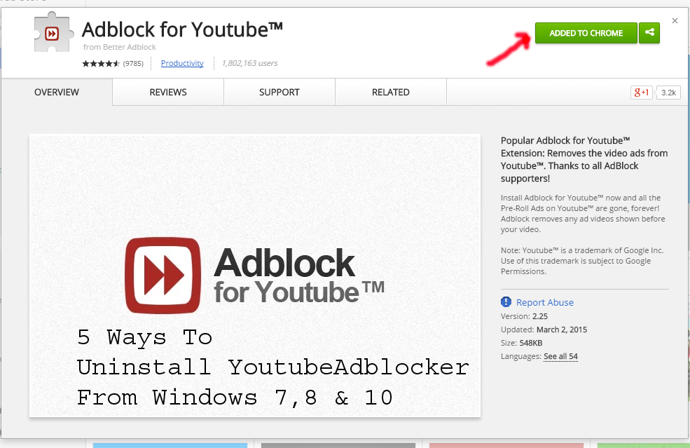 Best and Effective Ways To Uninstall YoutubeAdblocker From