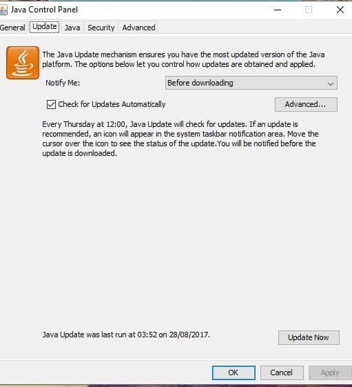 minecraft java runtime environment error fix german