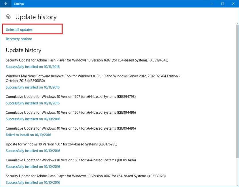 BSOD Error Caused by KB4517389 Update