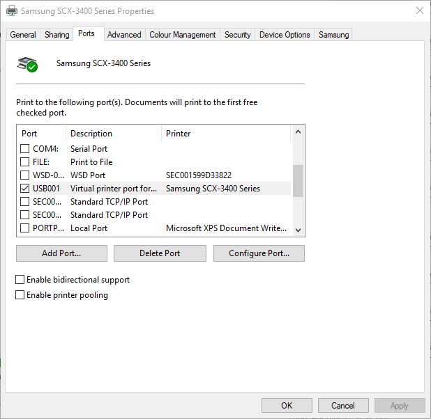 Error Printing message