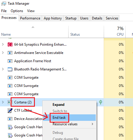 file explorer search not working in windows 10 1909