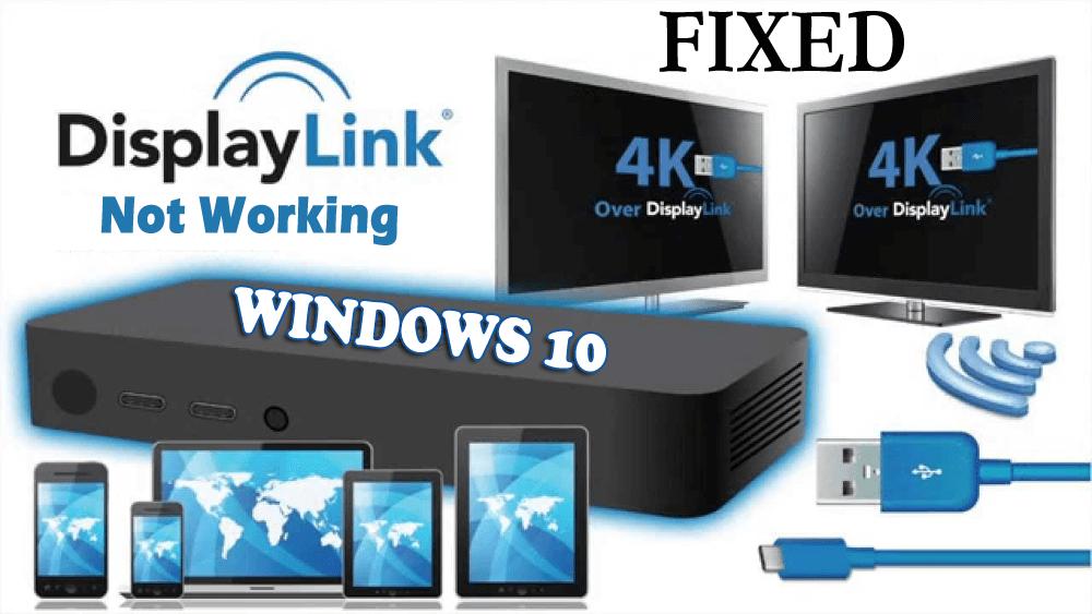 displaylink not working windows 10