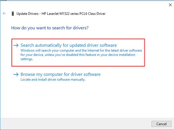 Update Printer Driver