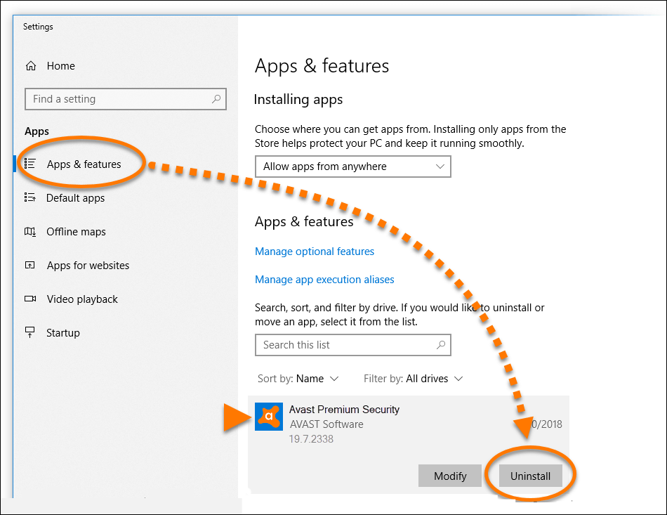 fix avast turning off by itself