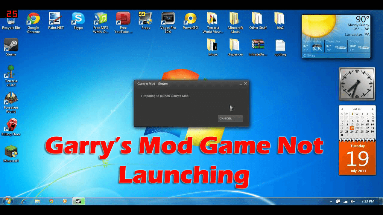 GMod not launching