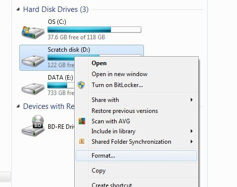 Format Your Pendrive To Remove Shortcut Virus