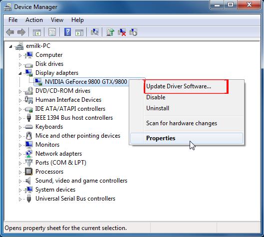 update nvidia driver