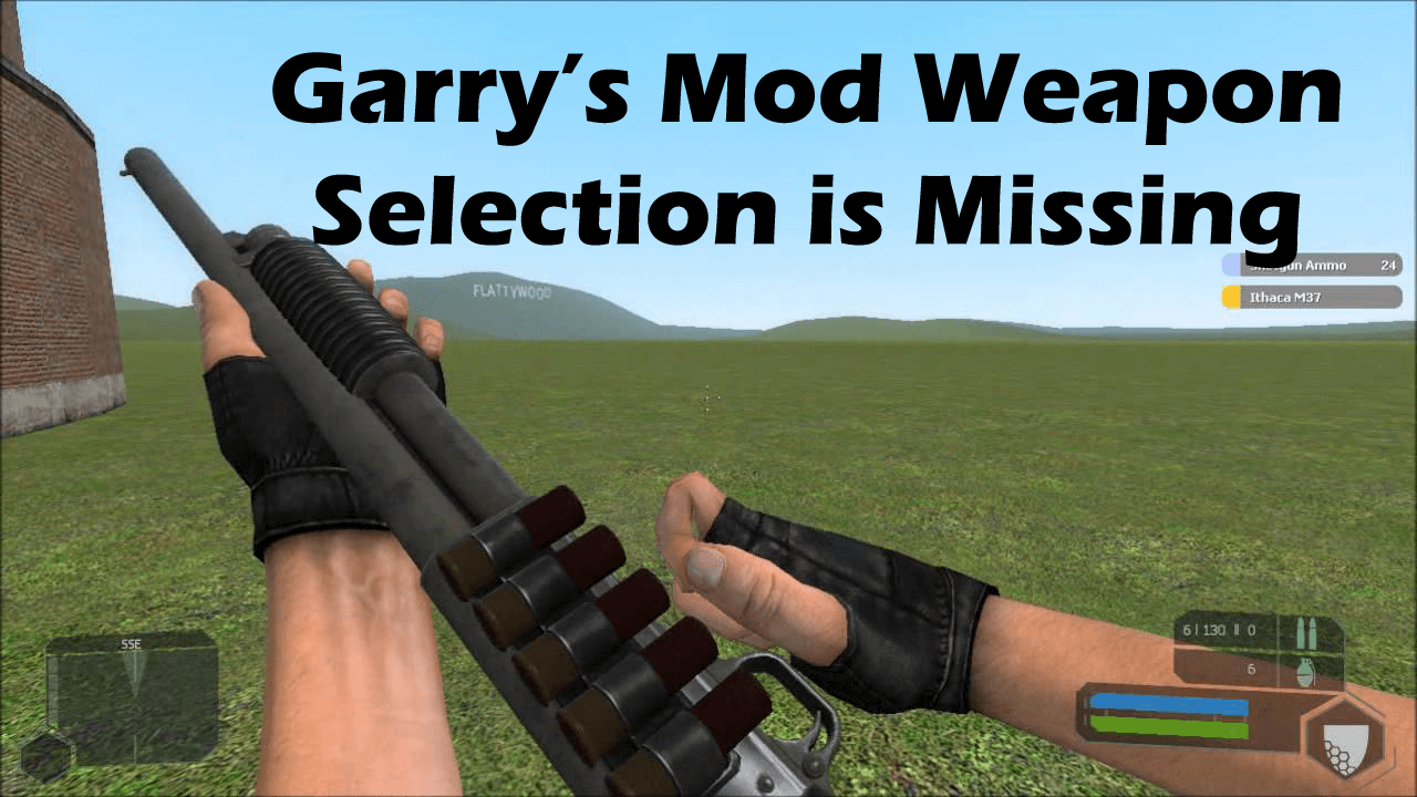 Garry's Mod Weapon Selection is Missing