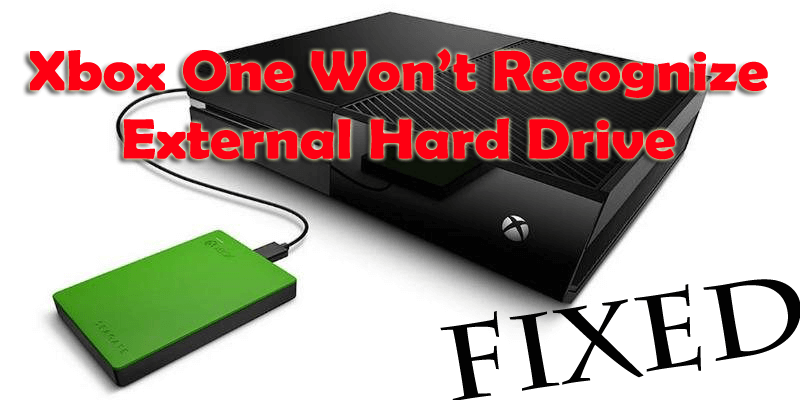 Xbox One can't detect external hard drive,