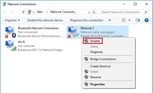 no internet connection after Windows 10 Creators Update issue