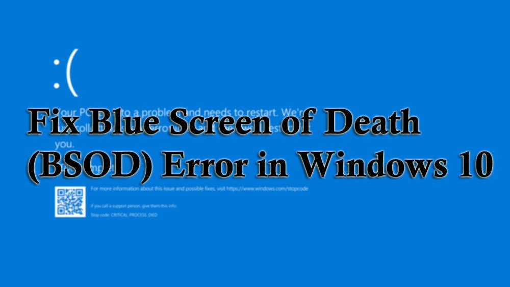 blue screen of death error