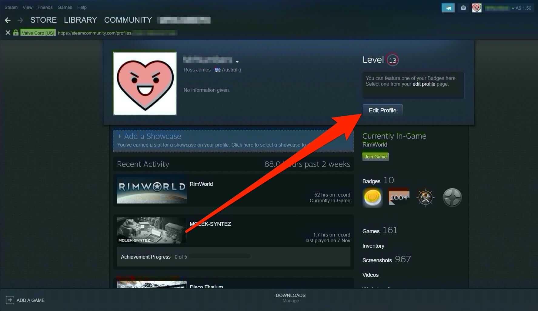 Hide Game Activity on Steam